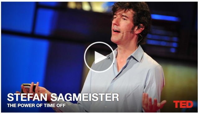 The Case for A Career Sabbatical: Stefan Sagmeister's TED Talk