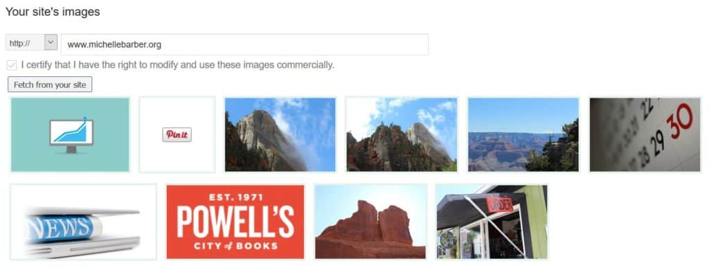 Google AdWords - Images from site